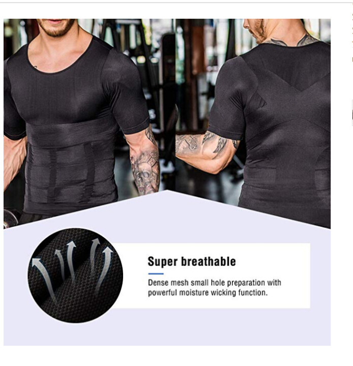 Last Day 50%OFF💥2021 Men's Shaper Slimming Compression T-Shirt(Buy 3 Free Shipping)
