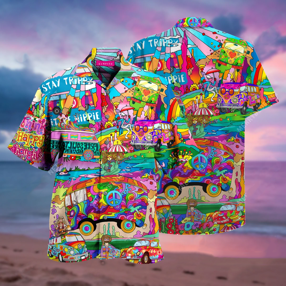 Amazing Camping Hippie Unisex Hawaiian Shirt
