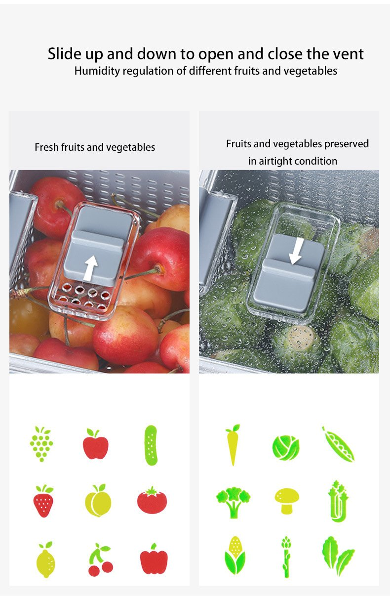 【💕Summer limited time discount💕】Fresh Produce Vegetable Fruit Storage Containers