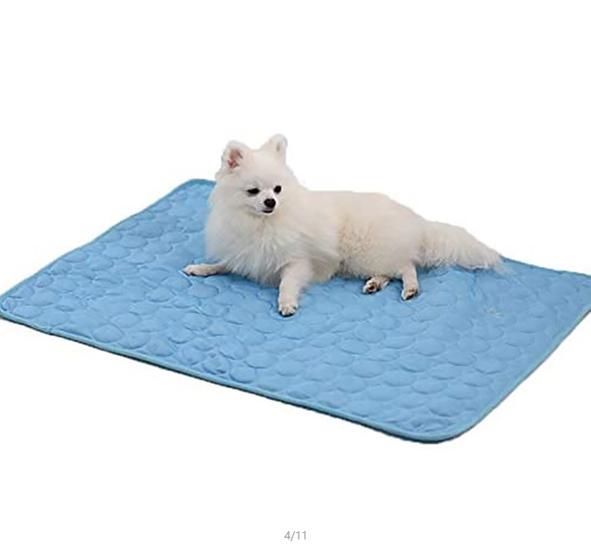 Reusable Cat/Dog Cooling Pad Mat Summer Ice Silk for Small Medium Large Pets