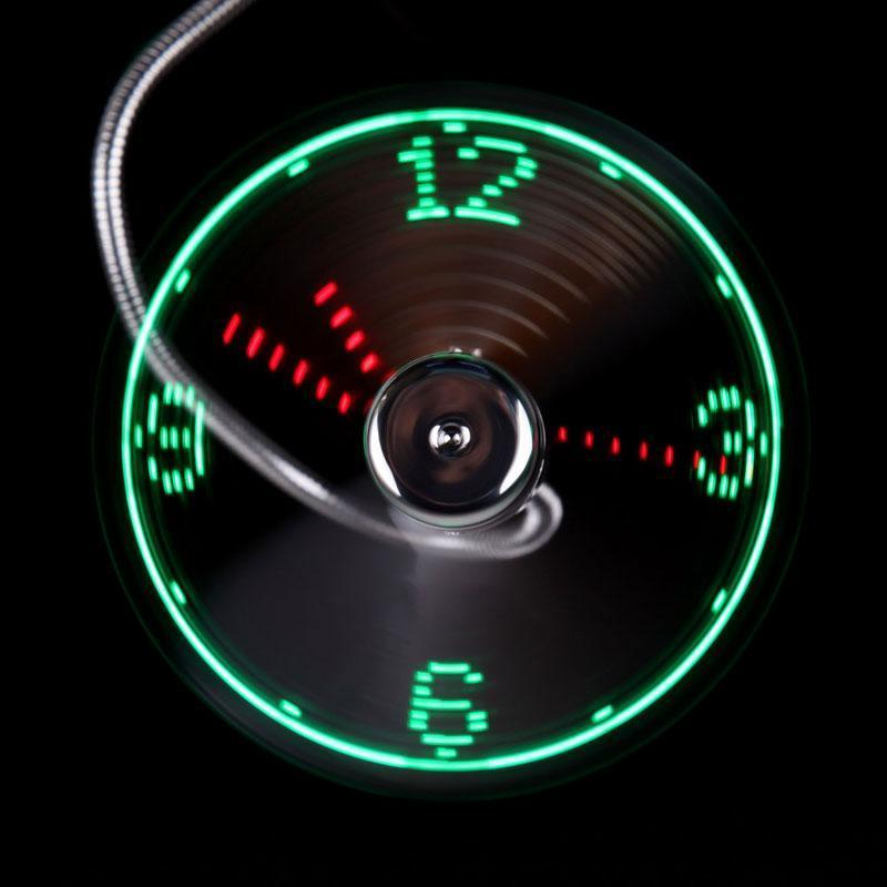 SUMMER SALE -Captivating LED USB Clock Fan(Buy 2 Get 10% OFF & Free Shipping)
