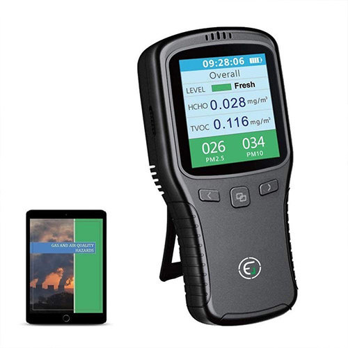 Air Quality Monitor Formaldehyde PM 2.5 Detector Pollution Meter & Test Indoor Pollution