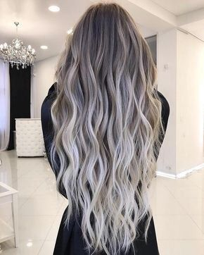 2020 New Gray Hair Wigs For African American Women Long Lace Front Wigs Platinum Grey Hair Color Color Of Hair Ash Gray Korean Wigs Grey Hair At 20