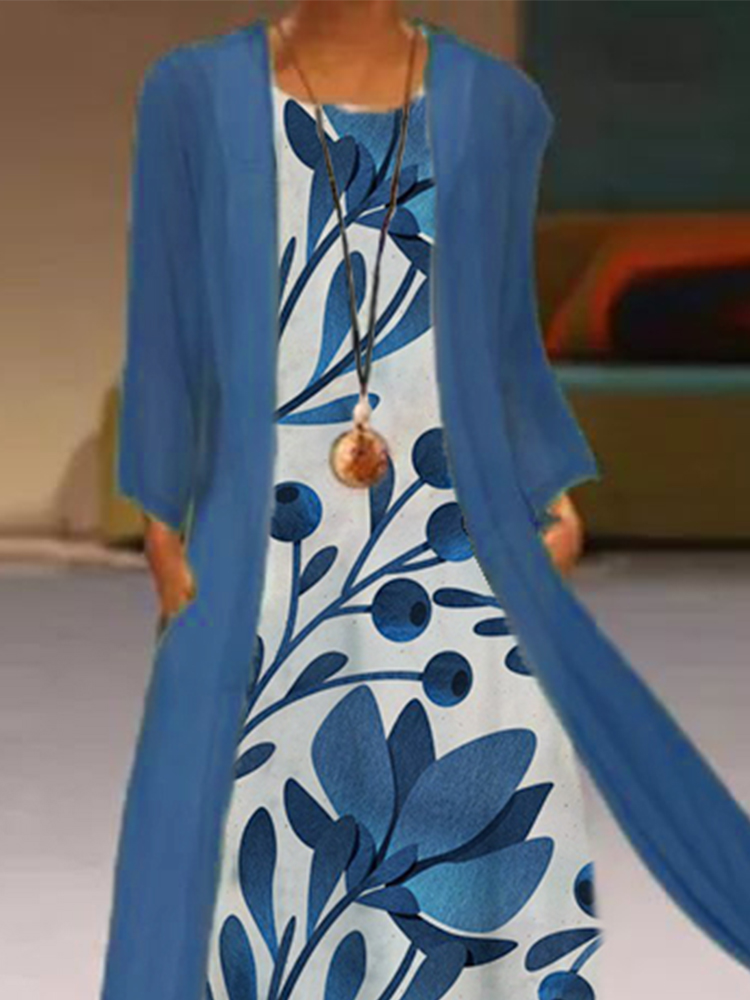 Two-Piece Printed Maxi Dress