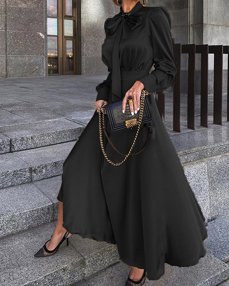 Fashion Long-Sleeved Temperament Casual Party Dress