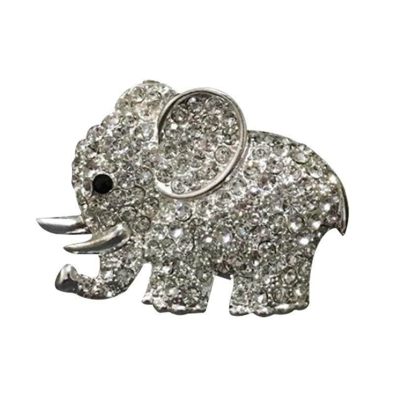 Metal Crystal Beautiful  Elephant Styling Car Perfume Clip Car Air Outlet Air Freshener
