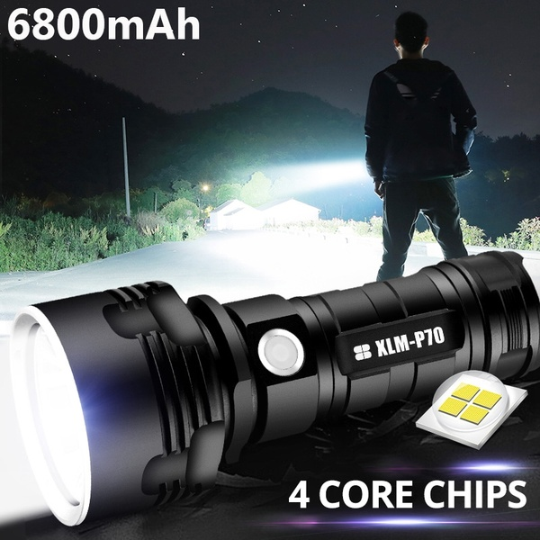 New Super Bright LED Flashlight USB Rechargeable Outdoor High Power Flashlight Camping Fishing Searchlight