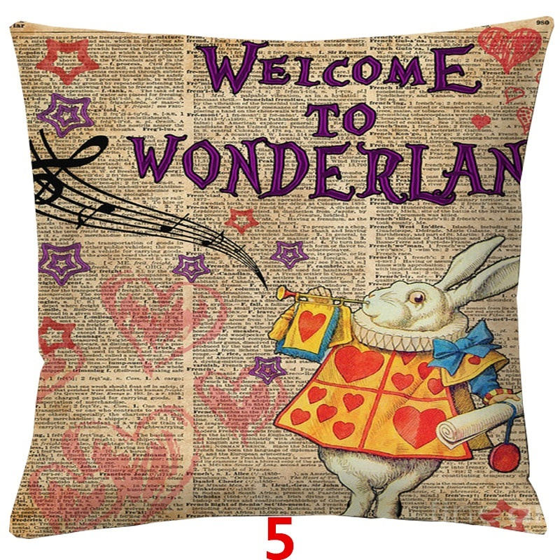 45x45cm Little Girl With Animals Double-sided Printing Retro Sofa Cushion Cover Throw Pillow Case Covers Office/Living Room/Sofa/Car Decoration Home Decor