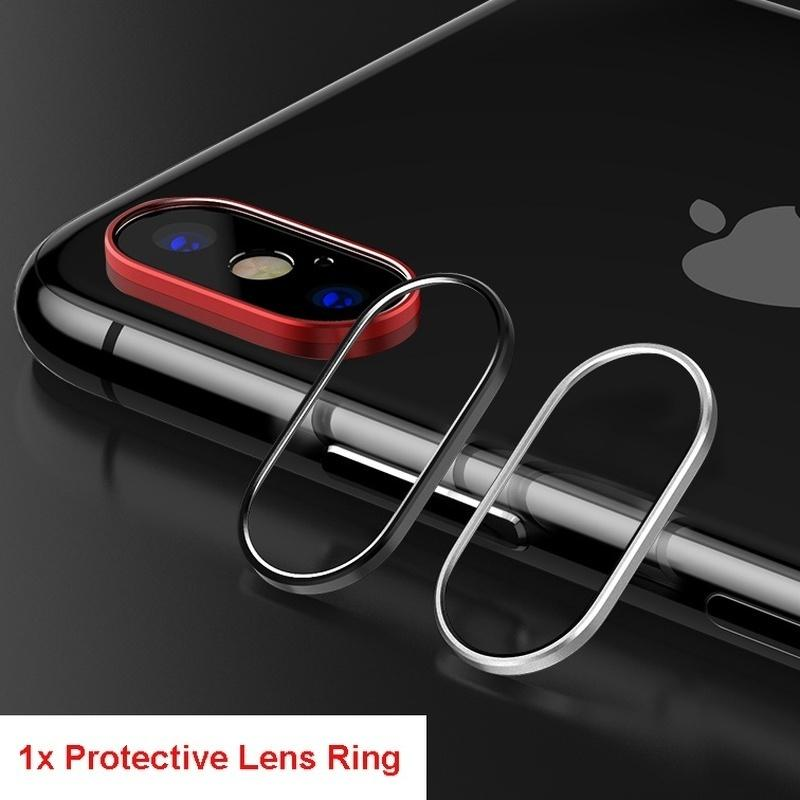 3D Full Protection 9H Hardness Back Camera Lens Tempered Glass Film For IPhone Xs Max X XR Camera Lens Protector( Rear Back Camera Protector Protective Lens Case Ring + Tempered Glass Cover)