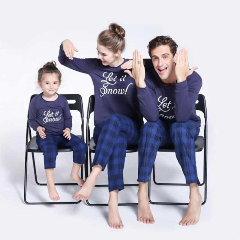 HERIN Let it Snow Christmas Family Matching Pajamas Sets