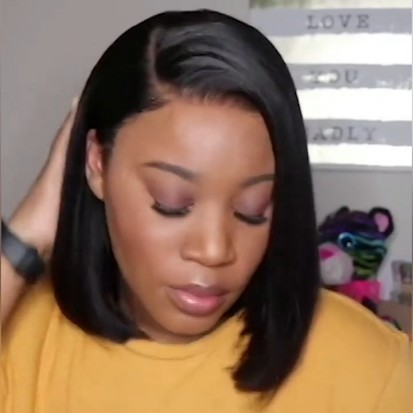 Black Friday | Natural Everyday Bob Basic Cap Lace Front Wig