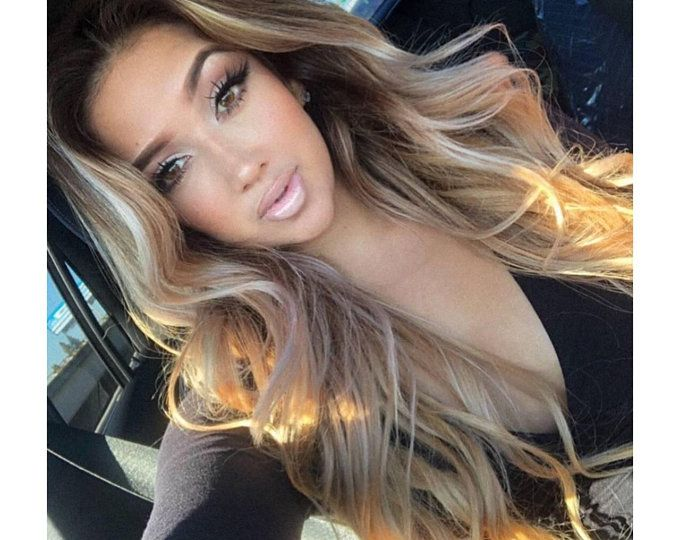Lace Front Wigs Beige Blonde Hair Color 18 Inch Blonde Hair Extensions Platinum Gray Hair Color