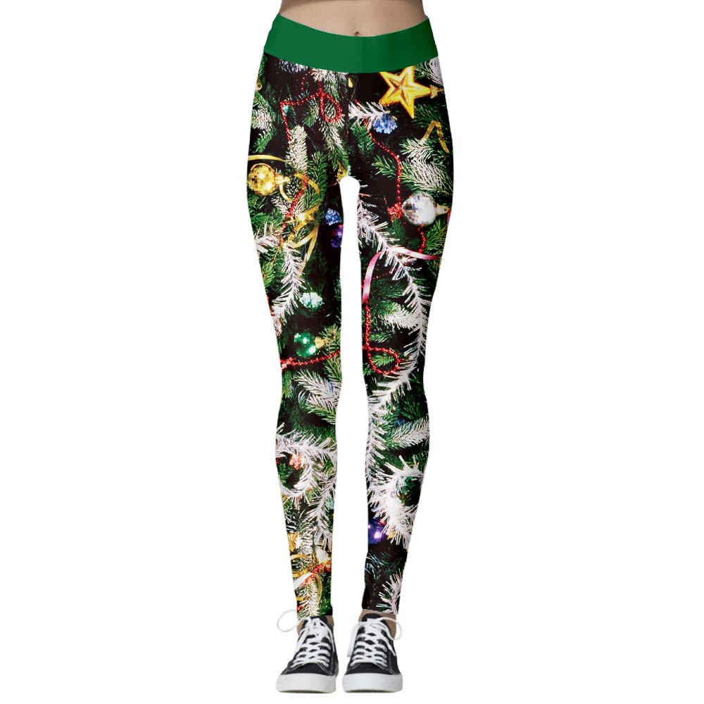 Arosetop  Women Leggings High Waist Sea World Print Pants