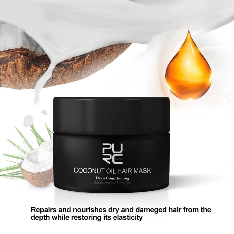 50ml Coconut Oil Hair Mask for Brassy&Dry Damaged Hair