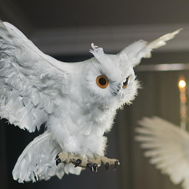 Halloween decorations small Flying White Owls