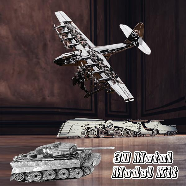 🎁Time For Machine 3D Metal Model kit Buy 2 Free Shipping!