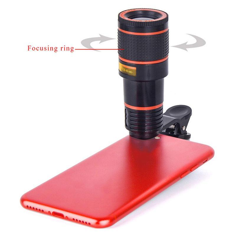 SKRTEN 18X Zoom Telescopic Clip-on Mobile Phone Lens for iPhone/Samsung