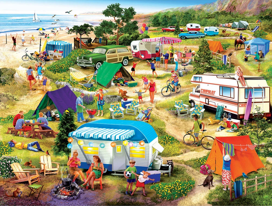 Beautiful life outdoors-1000 Pieces Puzzle [Buy 2 Free Shipping]