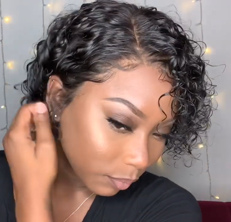 (✨NEW)Gorgeous Short Curly Wig 100%-150%(EXTRA THICK AS IN VIDEO)