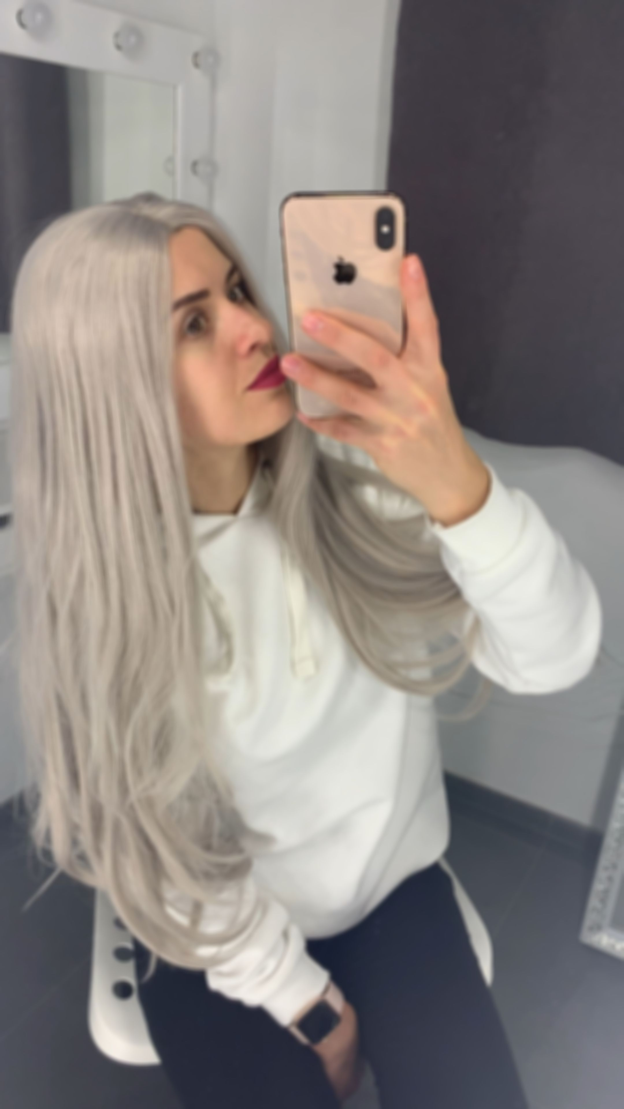 Lace Frontal Wigs For Women Gray Wigs Wet And Wavy Closure Resistant Grey Hair