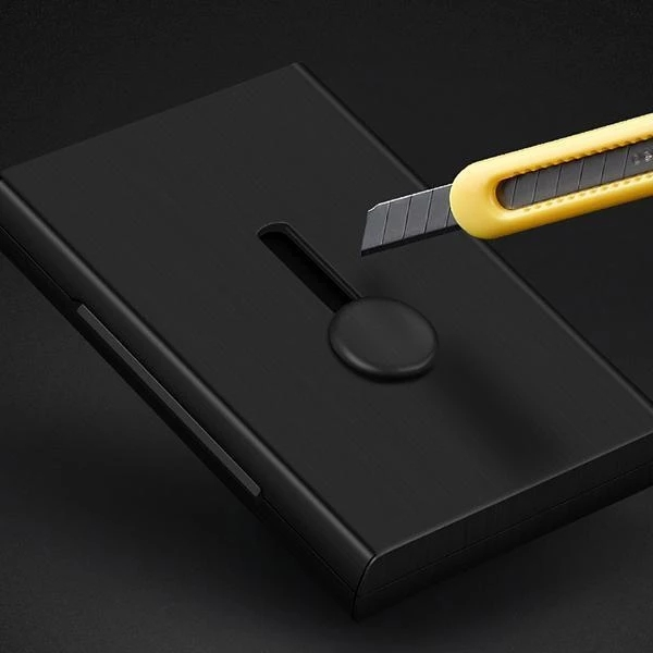 Arosetop Hand Push Card Case - The Perfect Business Card Pack