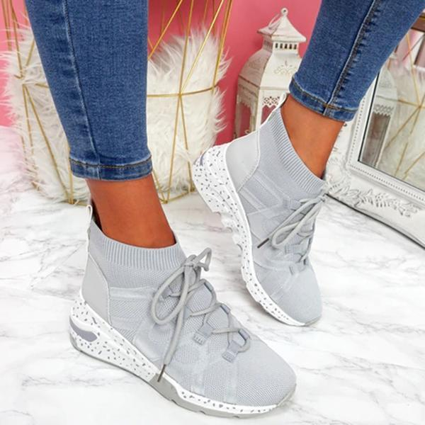 Lemmikshoes Lace Up Chunky Trainers Sneakers