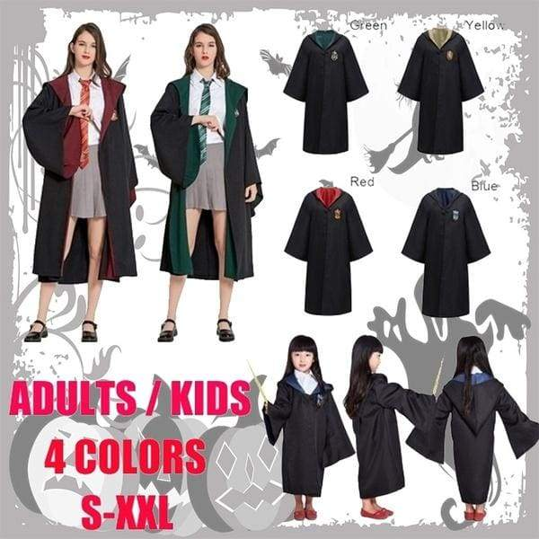 2019 New Costume Cosplay Robe Magic Halloween Christmas Party Cosplay Costumes Robe Cloak Cape Uniforms Halloween Party Costume