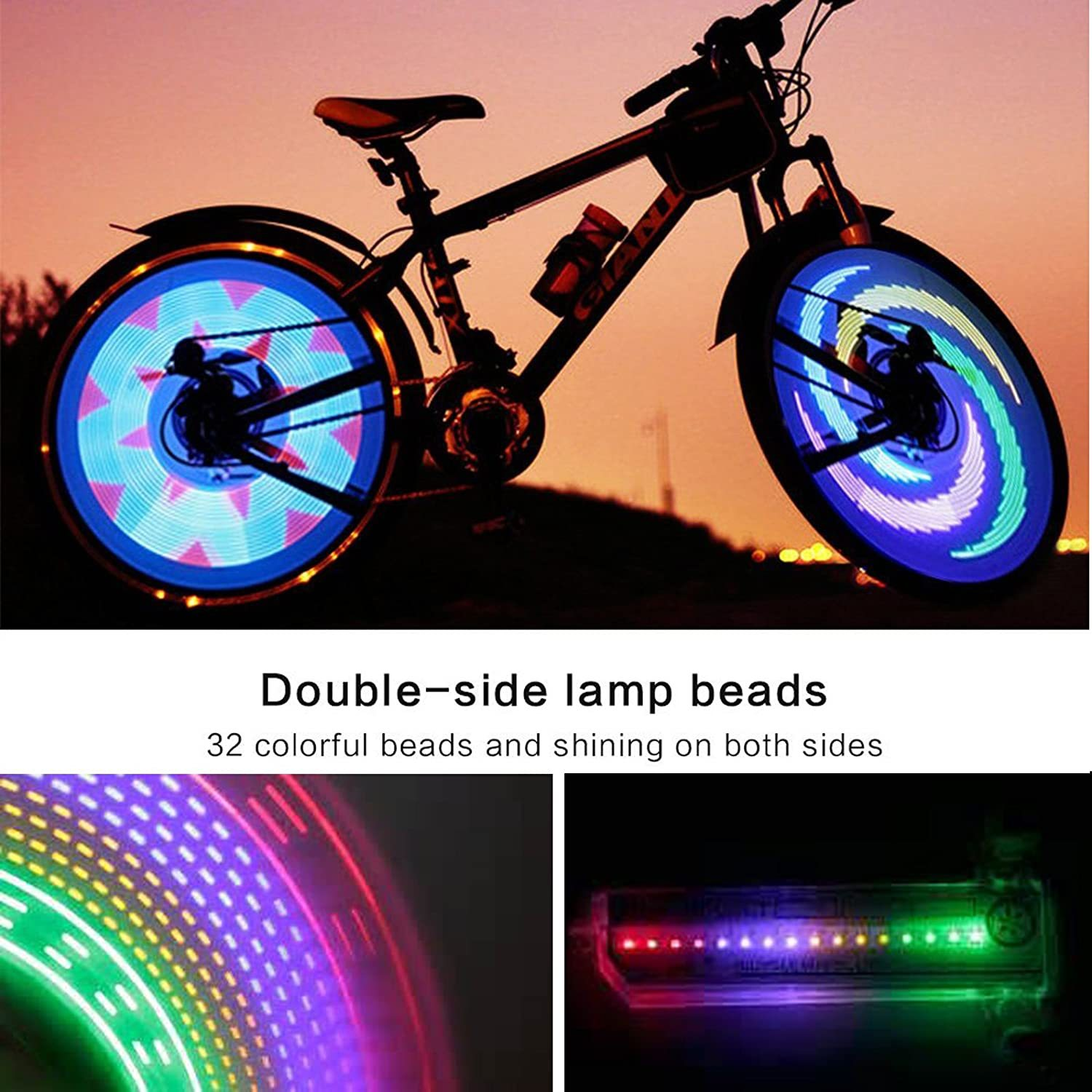 3D Bicycle Spoke LED Lights (BUY MORE SAVE MORE) - firsthopes