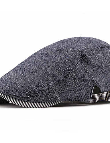 Men's Basic Polyester Bucket Hat-Striped Fall Dark Gray