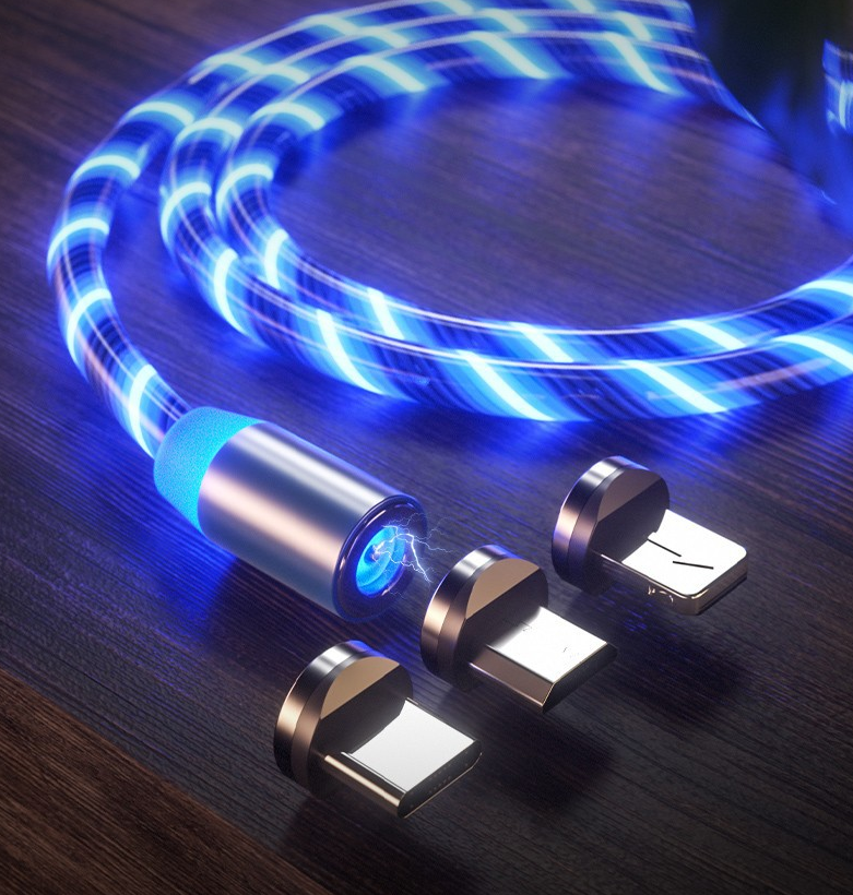 Streamer Magnetic Charging Cable(1 cable and 3 connector)