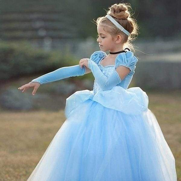 Girls Princess Cinderella Sofia Rapunzel Dresses Full Ball Gown Long Party Dress Kids Cosplay Christmas Halloween Costume Masquerade