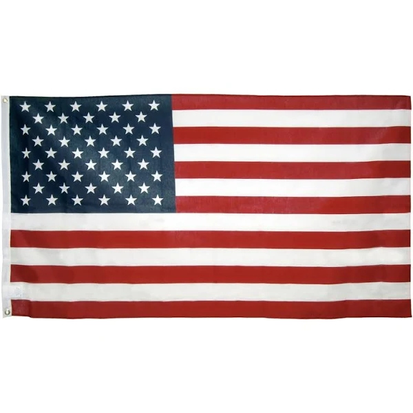 (BUY 4 GET 1 FREE) American US Flag 3 ft x 5 ft - Made in USA Embroidered Stars