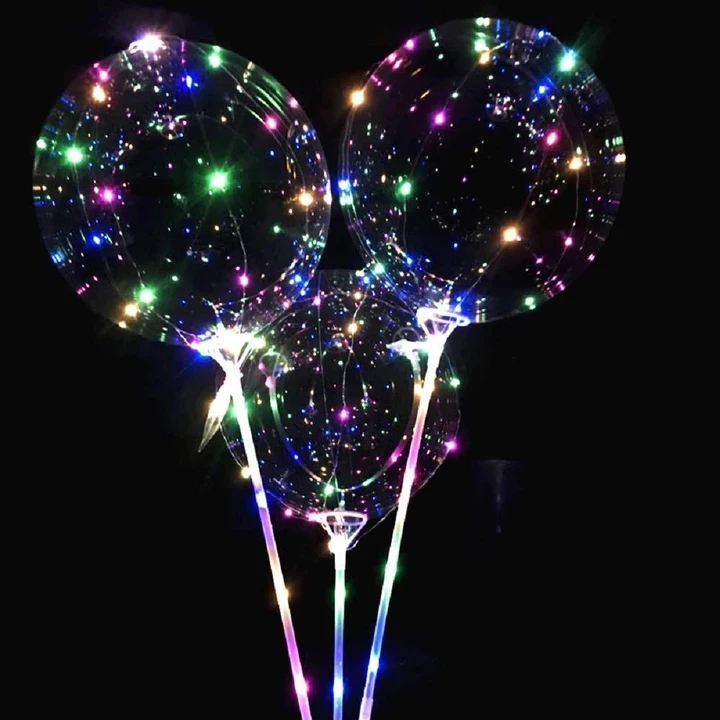Buy 5 Free 2 Buy 15 Free 10! Christmas Party Balloons with LED String Light