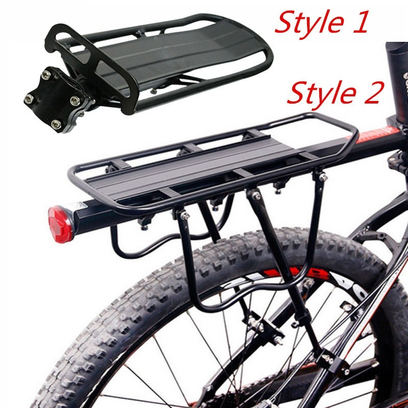 Universal Bike Carrier Rack Bicycle Mount Racks Cycling Cargo Racks Seatpost Rear Pannier Luggage Carrier Aluminum Stand Bike Shelf Quick Release