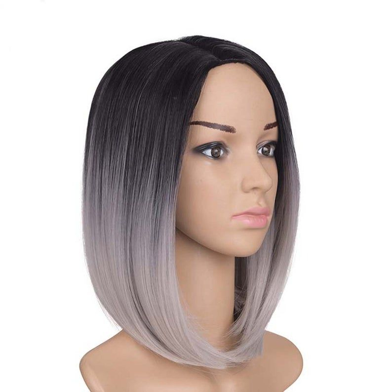2020 New Straight Wigs Black Long Hair Straight Closure African American Blonde Bob
