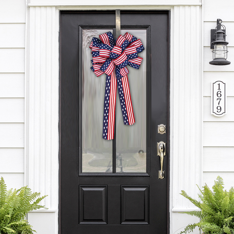 Stars and Stripes Patriotic Bow