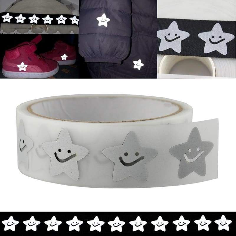4M Star Reflective Sticker Silver Reflective Tape On Heat Transfer Vinyl Film Stickers For Clothing