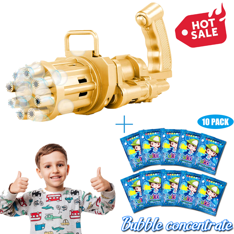 2021 Cool Toys & Gift——Gatling Bubble Machine