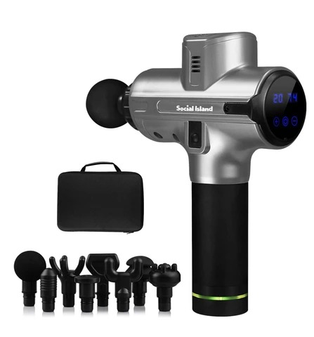 Massage Gun Deep Tissue Percussion Muscle Massager for Pain Relief, Handheld Electric Body Massager Sports Drill Portable Super Quiet Brushless Motor