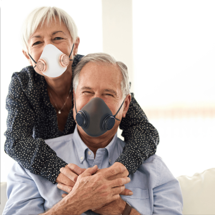 THE MOST COMFORTABLE REUSABLE FACE MASK, INSPIRED BY SILICONE RESPIRATOR MOUTH-CUPS