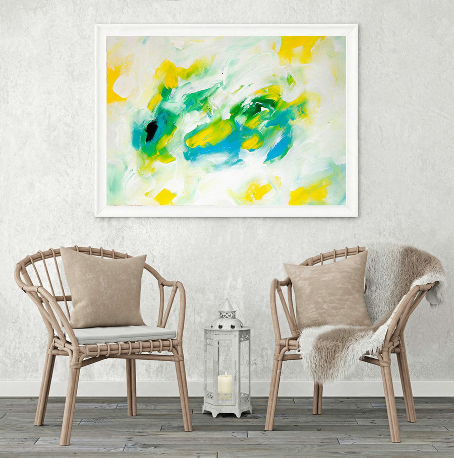 Extra Large Wall art - Abstract Painting on Canvas, Contemporary Art, Original Oversize Painting LAS036