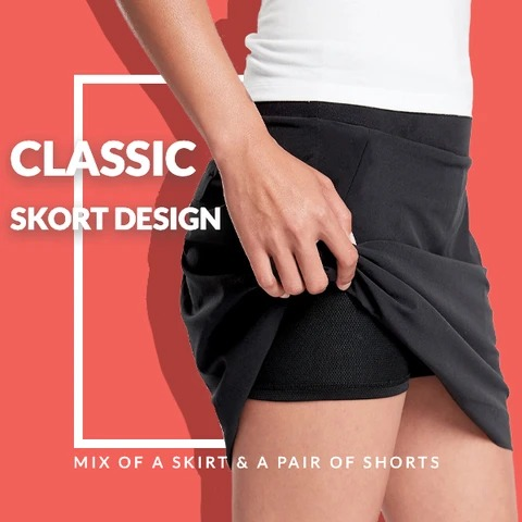 [Last Day Promotion & On-Time Delivery]Quick-drying sports pleated skirt