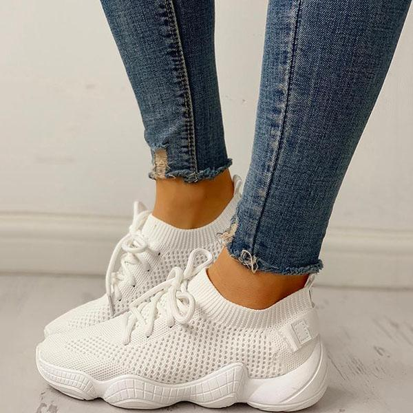 Faddishshoes Net Surface Breathable Non-Slip Sneakers
