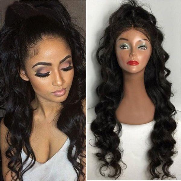 Lace Front Wigs Black Hair black wigs for sale In Loverlywigs.com