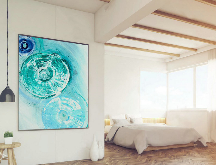 Abstract Painting on Canvas - Extra Large Wall Art, Contemporary Art, Original Oversize Painting LAS010