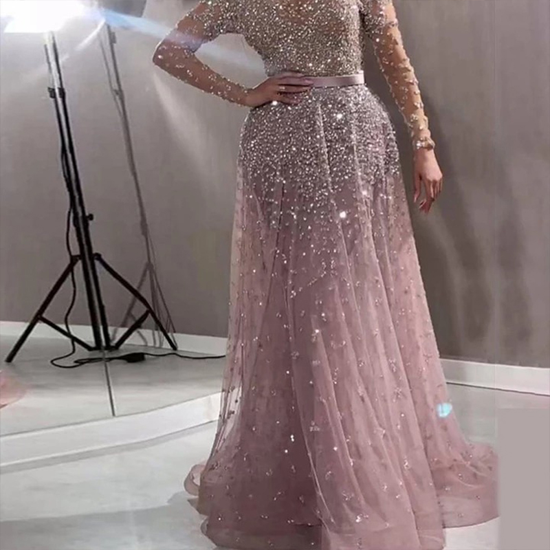 Sexy Perspective Mesh Evening Dress