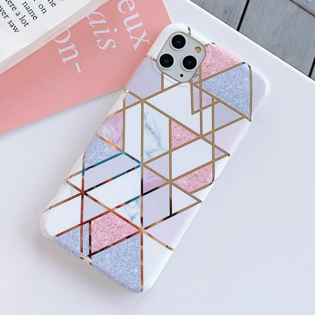 Geometric Splicing Marble Case
