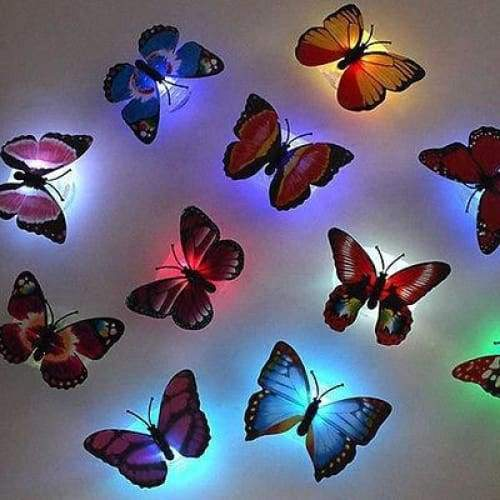 1pc Pretty LED Butterfly Night Light Home Decoration Lamp Wedding Christmas Gift