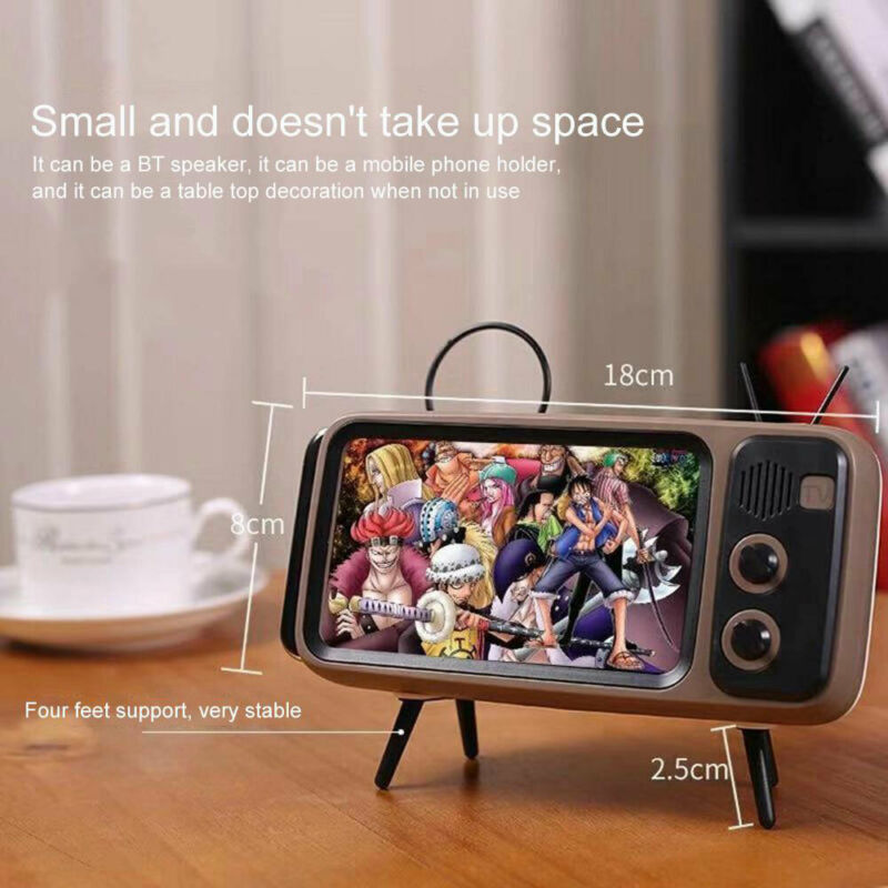 [BUY MORE SAVE MORE] Retro Bluetooth Speaker Mobile Phone Holder