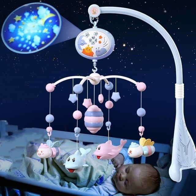 Baby Crib Mobiles Rattles Music Educational Toys Bed Bell Carousel